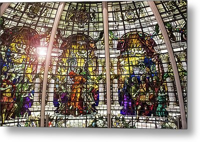 Stained Glass Metal Print by Martin Newman