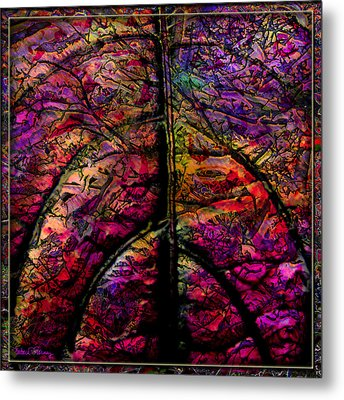 Stained Glass Not Metal Print by Barbara Berney