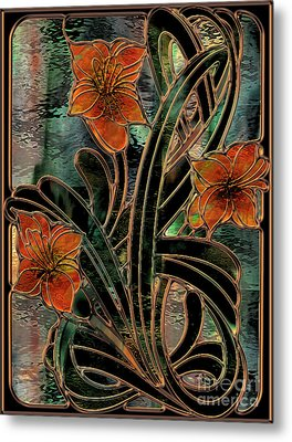 Stained Glass Parabolas Metal Print by Mindy Sommers