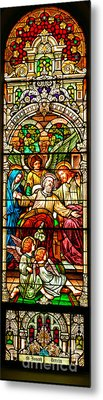 Metal Print featuring the photograph Stained Glass Scene 1 - 3 by Adam Jewell