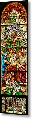 Metal Print featuring the photograph Stained Glass Scene 1 - 4 by Adam Jewell