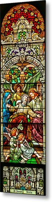 Metal Print featuring the photograph Stained Glass Scene 1 by Adam Jewell