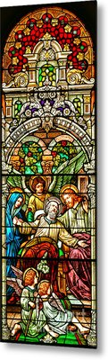 Metal Print featuring the photograph Stained Glass Scene 1 Crop by Adam Jewell