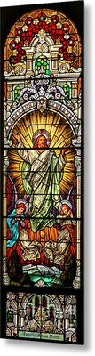 Metal Print featuring the photograph Stained Glass Scene 10 by Adam Jewell