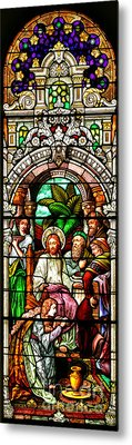 Metal Print featuring the photograph Stained Glass Scene 11 Crop by Adam Jewell