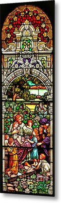 Metal Print featuring the photograph Stained Glass Scene 12 by Adam Jewell