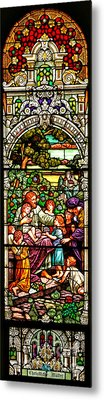 Metal Print featuring the photograph Stained Glass Scene 12 Crop by Adam Jewell