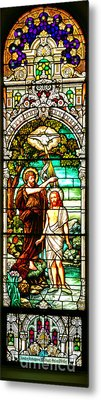 Metal Print featuring the photograph Stained Glass Scene 2 by Adam Jewell
