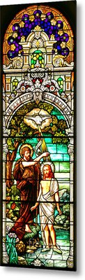Metal Print featuring the photograph Stained Glass Scene 2 Crop 2 by Adam Jewell