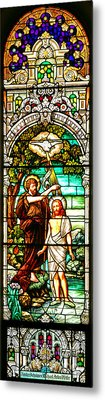 Metal Print featuring the photograph Stained Glass Scene 2 Crop by Adam Jewell