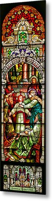 Metal Print featuring the photograph Stained Glass Scene 3 by Adam Jewell