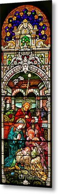 Metal Print featuring the photograph Stained Glass Scene 4 - 2 by Adam Jewell