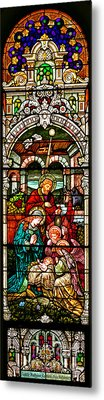 Metal Print featuring the photograph Stained Glass Scene 4 by Adam Jewell