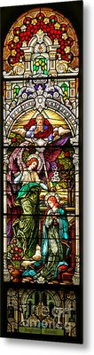 Metal Print featuring the photograph Stained Glass Scene 5 Crop by Adam Jewell