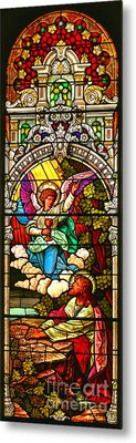 Metal Print featuring the photograph Stained Glass Scene 7 Crop by Adam Jewell