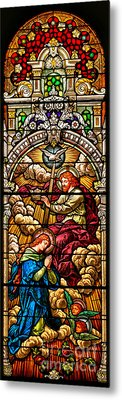 Metal Print featuring the photograph Stained Glass Scene 7 Crops by Adam Jewell