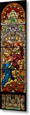 Metal Print featuring the photograph Stained Glass Scene 8 by Adam Jewell