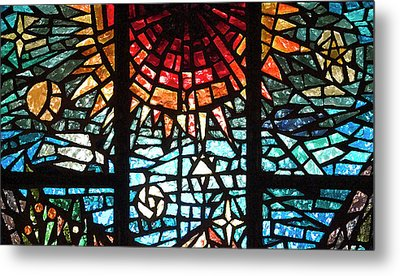 Metal Print featuring the photograph Stained Glass Sun by Michael Flood
