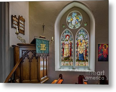 Metal Print featuring the photograph Stained Glass Uk by Adrian Evans
