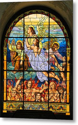 Metal Print featuring the photograph Stained Glass Window by Elizabeth Budd