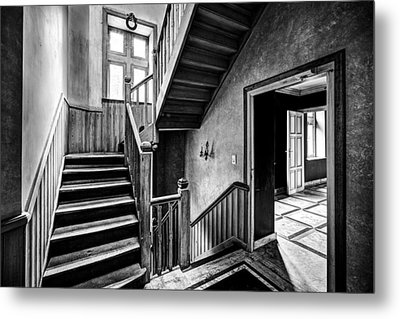 Staircase In Abandoned Castle - Urban Exploration Metal Print