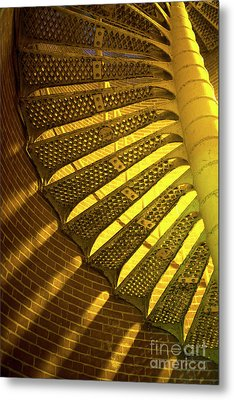 Metal Print featuring the photograph Staircase Light by John Rizzuto