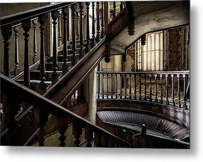Staircase Rhythm - Abandoned Castle Metal Print