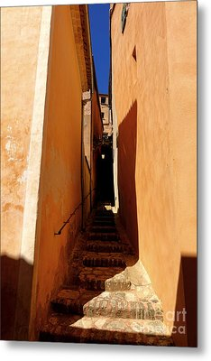 Metal Print featuring the photograph Stairs In Roussillon by Olivier Le Queinec