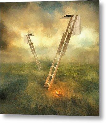 Stairs To Heaven - Da Metal Print