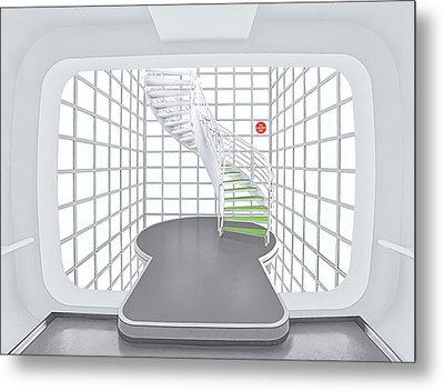 Stairs_1_kinemathek Metal Print by Herbert A. Franke