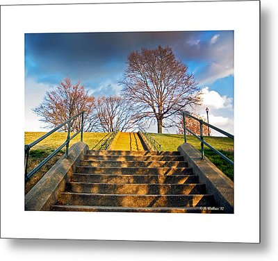 Stairway To Federal Hill Metal Print by Brian Wallace