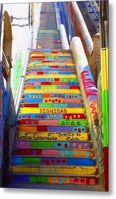 Stairway To Heaven Valparaiso Chile II Metal Print