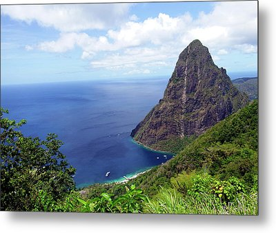 Metal Print featuring the photograph Stairway To Heaven View, Pitons, St. Lucia by Kurt Van Wagner