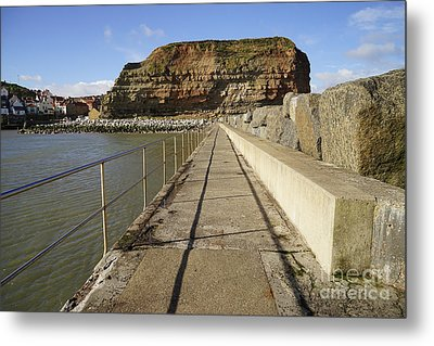 Staithes Metal Print by Nichola Denny