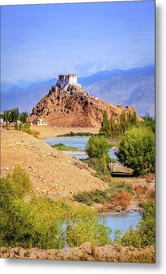 Metal Print featuring the photograph Stakna Monastery by Alexey Stiop
