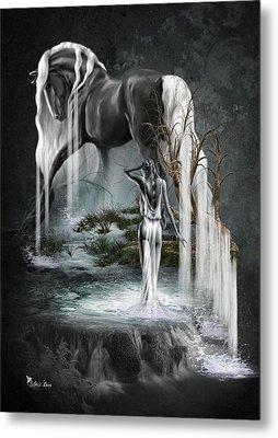 Stallion Falls Metal Print