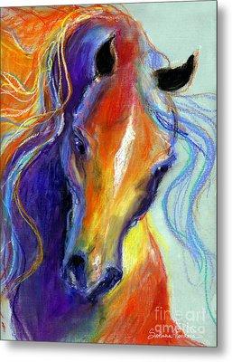 Stallion Horse Painting Metal Print by Svetlana Novikova