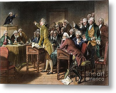 Stamp Act: Patrick Henry Metal Print by Granger