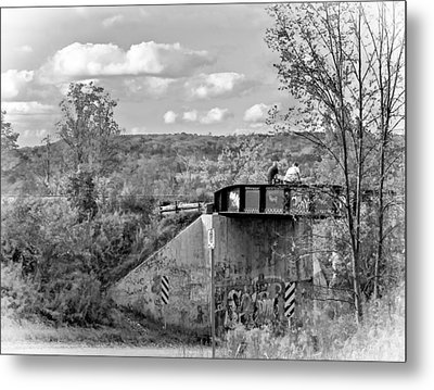 Stand By Me - Paint Bw Metal Print by Steve Harrington