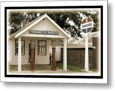 Standard Station - Jackson Co. Fair Grounds Minnesota Metal Print by Gary Gunderson