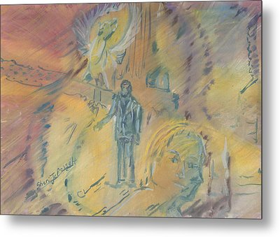 Standing At The Crossroads Metal Print