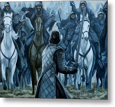 Metal Print featuring the painting Standing Brave by Al  Molina