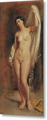 Standing Female Nude Metal Print by Theodore Chasseriau
