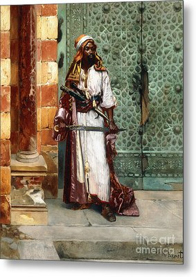 Standing Guard Metal Print by Rudolphe Ernst