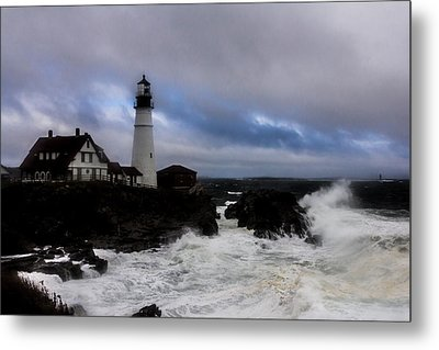 Standing In The Storm Metal Print