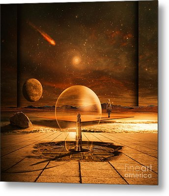 Metal Print featuring the digital art Standing In Time by Franziskus Pfleghart