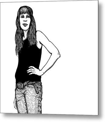 Standing Lady Metal Print by Karl Addison