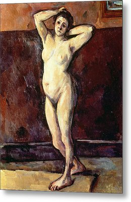 Standing Nude Woman Metal Print by Cezanne