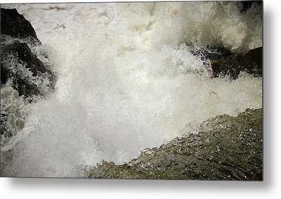 Standing On A Waterfall Metal Print