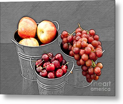 Metal Print featuring the photograph Standing Out As Fruit by Sherry Hallemeier
